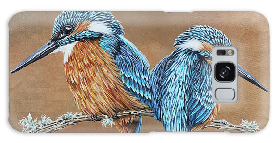 Kingfisher Galaxy S8 Case featuring the painting Kingfishers by Jane Girardot