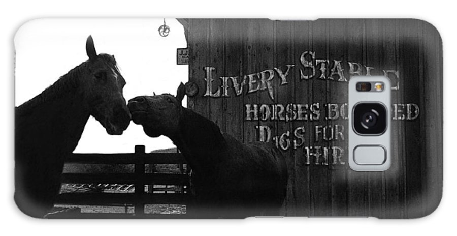Kissing Horses Joe Kidd Set Old Tucson Arizona 1972 Galaxy S8 Case featuring the photograph Kissing Horses Joe Kidd Set Old Tucson Arizona 1972 by David Lee Guss