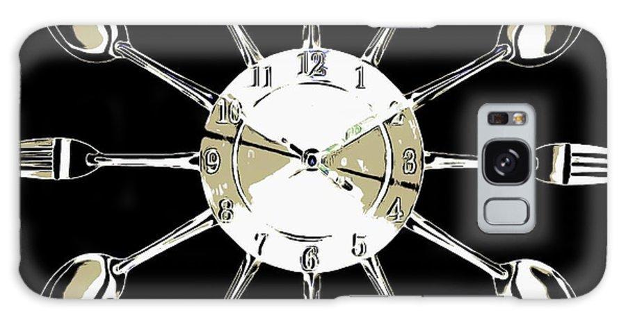 Kitchen Galaxy S8 Case featuring the digital art Kitchen Clock by Dragica Micki Fortuna