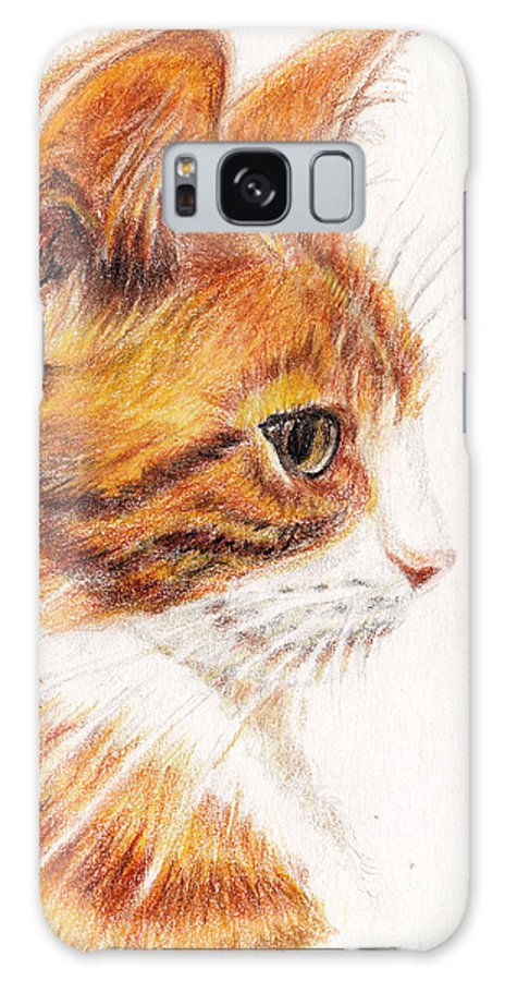 Cats Galaxy S8 Case featuring the painting Kitty Kat Iphone Cases Smart Phones Cells And Mobile Cases Carole Spandau Cbs Art 338 by Carole Spandau