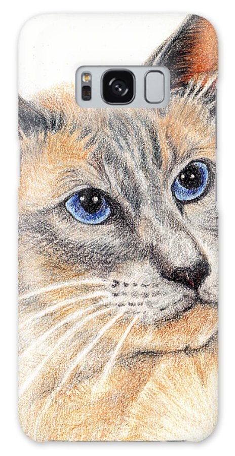 Cats Galaxy S8 Case featuring the painting Kitty Kat Iphone Cases Smart Phones Cells And Mobile Cases Carole Spandau Cbs Art 346 by Carole Spandau