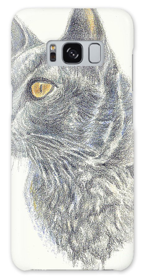 Cats Galaxy S8 Case featuring the painting Kitty Kat Iphone Cases Smart Phones Cells And Mobile Cases Carole Spandau Cbs Art 347 by Carole Spandau