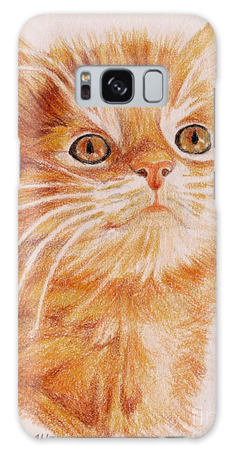 Cats Galaxy S8 Case featuring the painting Kitty Kat Iphone Cases Smart Phones Cells And Mobile Cases Carole Spandau Cbs Art 349 by Carole Spandau