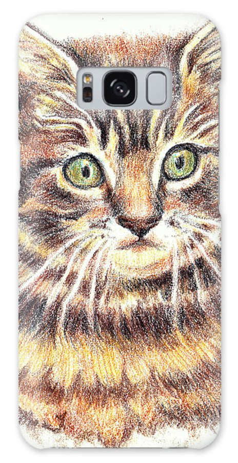 Cats Galaxy S8 Case featuring the painting Kitty Kat Iphone Cases Smart Phones Cells And Mobile Cases Carole Spandau Cbs Art 350 by Carole Spandau