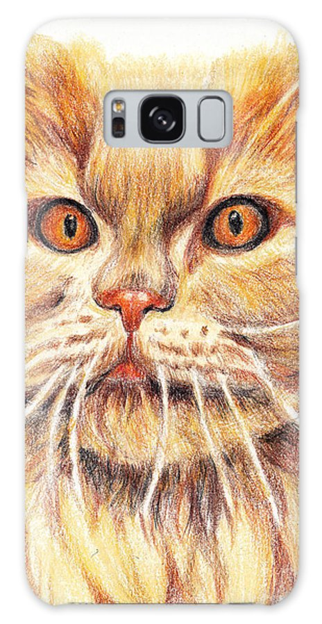 Cats Galaxy S8 Case featuring the painting Kitty Kat Iphone Cases Smart Phones Cells And Mobile Cases Carole Spandau Cbs Art 351 by Carole Spandau