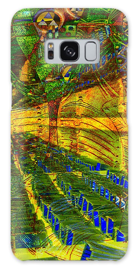 Digital Art Galaxy S8 Case featuring the digital art Klimt Covetous by Mary Clanahan