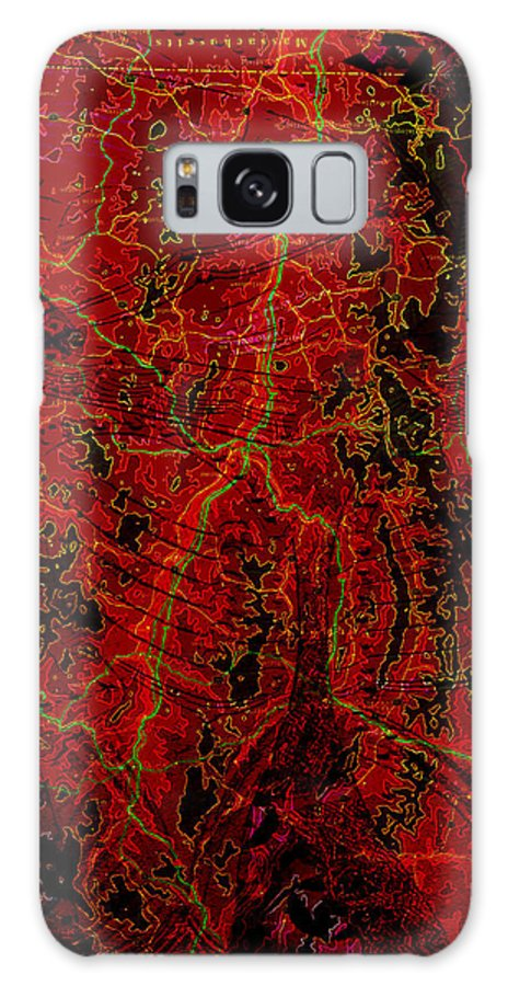 Digital Art Galaxy S8 Case featuring the digital art Klimt Surface by Mary Clanahan