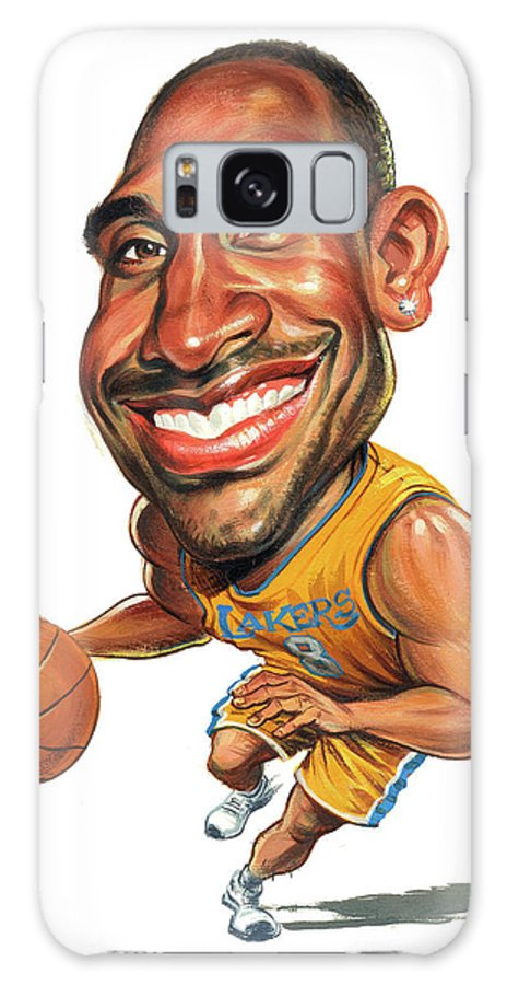 Kobe Bryant Galaxy S8 Case featuring the painting Kobe Bryant by Art