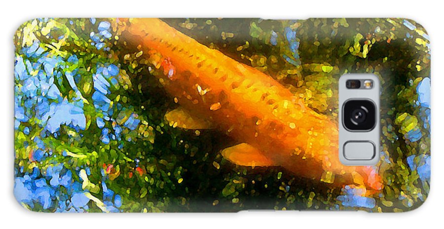 Animal Galaxy S8 Case featuring the painting Koi Fish 1 by Amy Vangsgard