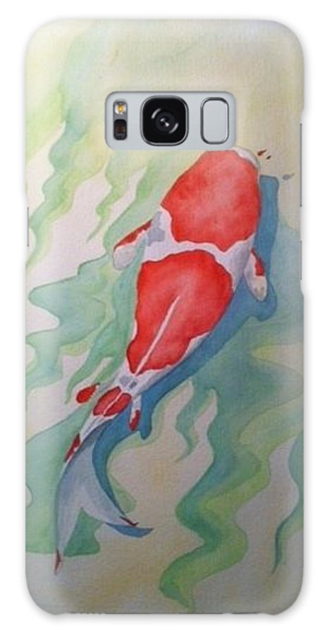 Koi Fish Galaxy S8 Case featuring the painting Koi by Stephanie Reid