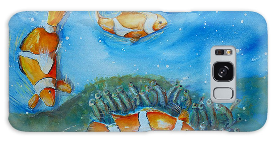Koi' Galaxy S8 Case featuring the painting Koi's On The Reef by Bernadette Krupa