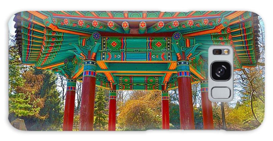 Galaxy S8 Case featuring the photograph Korean Pavilion At Vandusen Botanical Garden by David Oberman