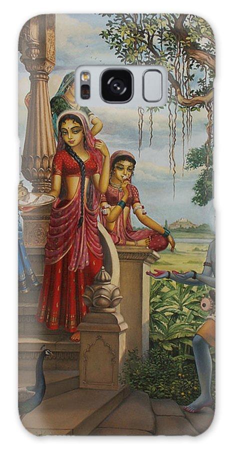 Krishna Galaxy S8 Case featuring the painting Krishna As Shaiva Sanyasi by Vrindavan Das