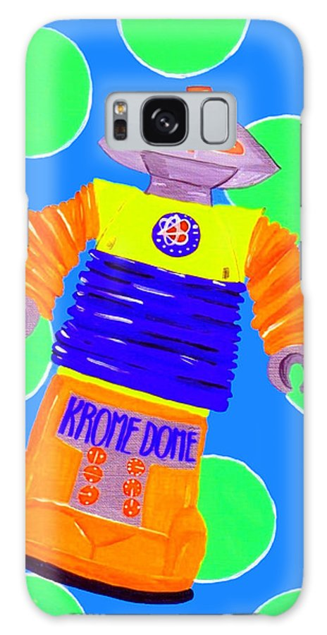 Antique Toys Galaxy Case featuring the painting Kromedome by Lynnda Rakos