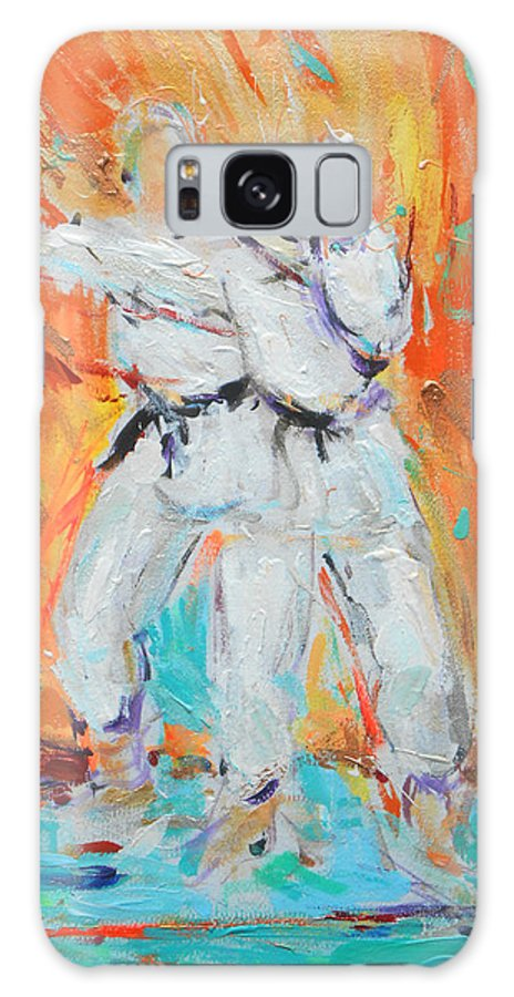 Karate Galaxy S8 Case featuring the painting Kumite Ni by Lucia Hoogervorst