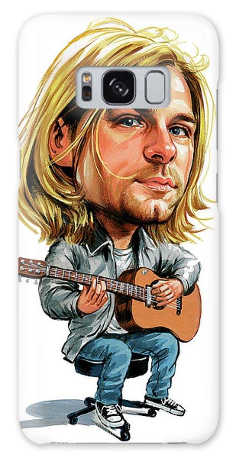 Kurt Cobain Galaxy S8 Case featuring the painting Kurt Cobain by Art