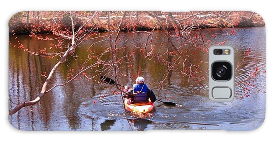 Kyaking On A Lake In Spring Galaxy S8 Case featuring the photograph Kyaking On A Lake In Spring by John Malone