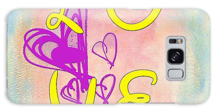 Digital Art Galaxy S8 Case featuring the digital art L O V E Disney Style by Paulette B Wright