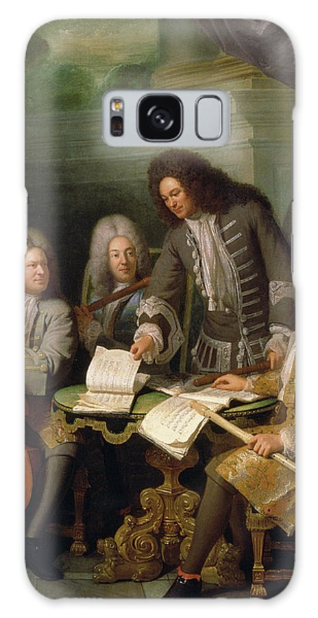 Flute Galaxy S8 Case featuring the photograph La Barre And Other Musicians, C.1710 Oil On Canvas by Andre Bouys