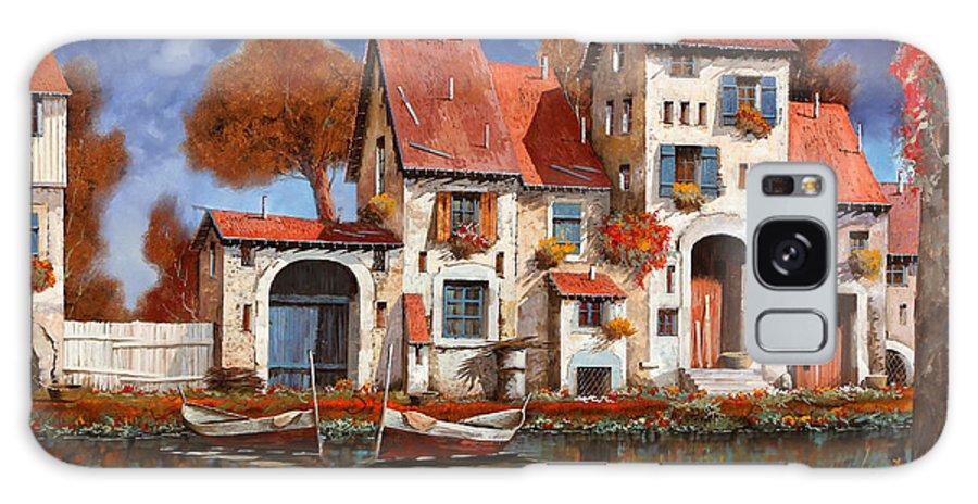 Little Village Galaxy Case featuring the painting La Cascina Sul Lago by Guido Borelli