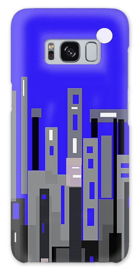 Blue Galaxy S8 Case featuring the digital art La Luna by Sladjana Lazarevic