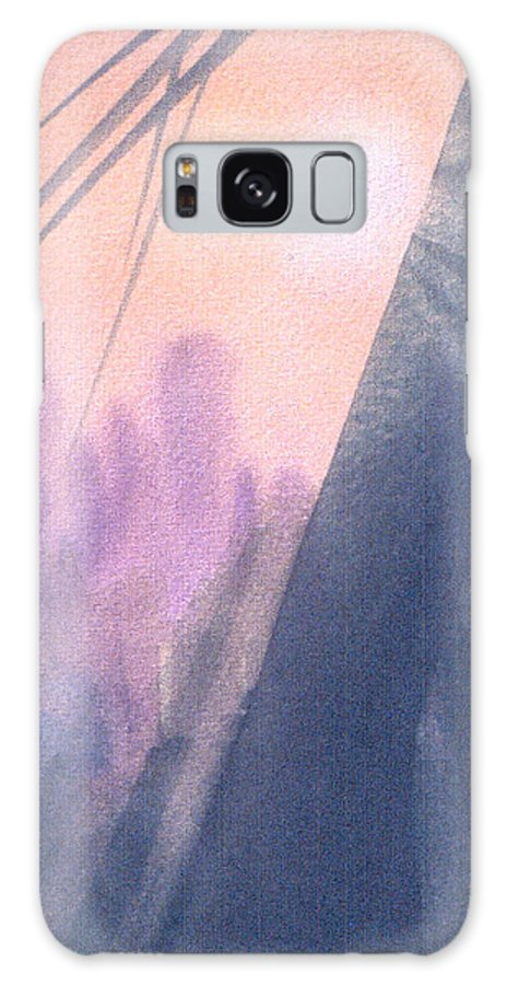 Landscape Galaxy Case featuring the painting La Morning by Christina Rahm Galanis