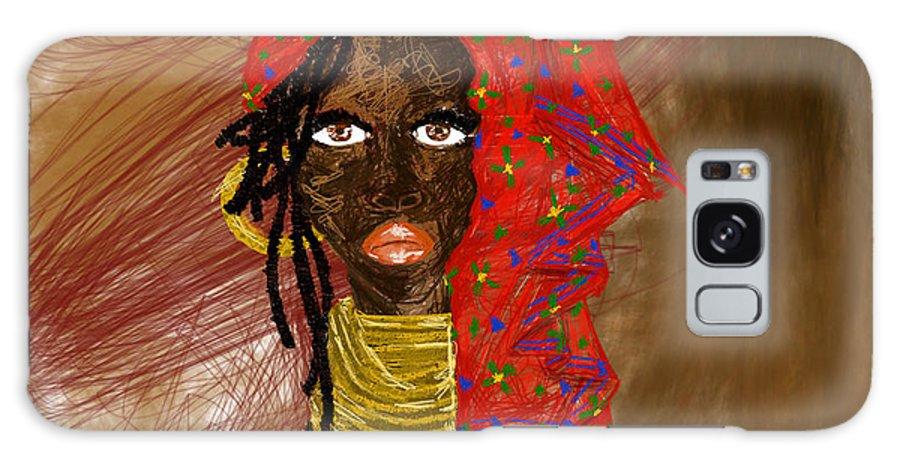 Africanwoman Galaxy S8 Case featuring the digital art La Mujer De Africa by Maricela Del Rio