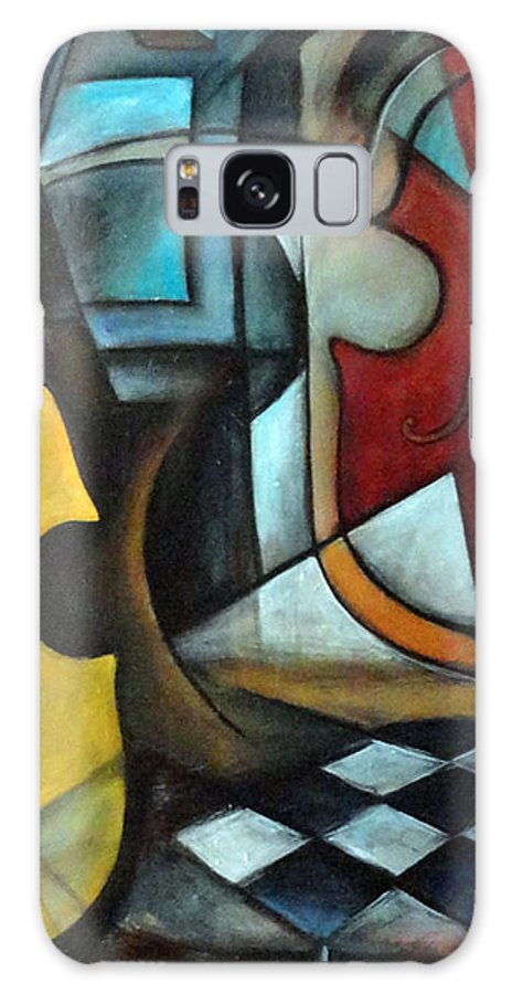 Abstract Galaxy S8 Case featuring the painting La Musique 1 by Valerie Vescovi