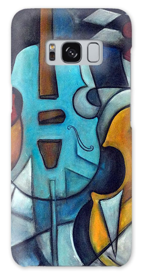 Music Galaxy S8 Case featuring the painting La Musique 2 by Valerie Vescovi