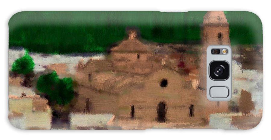 Spain Galaxy S8 Case featuring the painting La Parroquia De La Purisima by Bruce Nutting