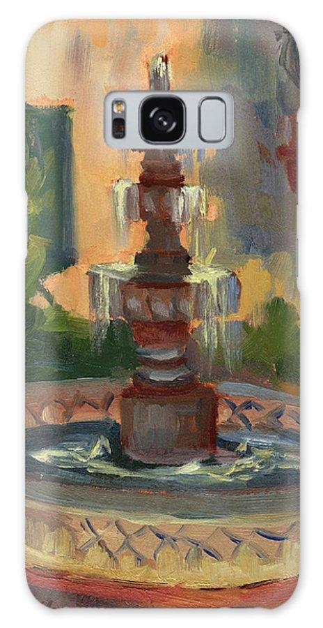 La Quinta Resort Fountain Galaxy S8 Case featuring the painting La Quinta Resort Fountain by Diane McClary