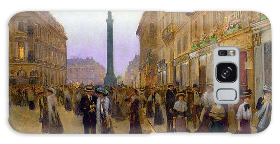 Albert Bierstadt Galaxy S8 Case featuring the digital art La Rue De La Paix by Jean Beraud