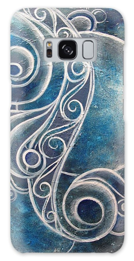 Reina Cottier Galaxy S8 Case featuring the painting Labradorite by Reina Cottier