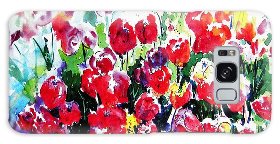 Tulips Galaxy S8 Case featuring the painting Laconner Tulips by Marti Green