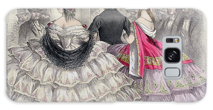 Crinoline Galaxy S8 Case featuring the painting Ladies Wearing Crinolines At The Royal Italian Opera by TH Guerin