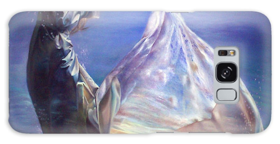 Oil On Canvas Painting Galaxy S8 Case featuring the painting Lady In Water Oil On Canvas Painting Realsim by Persian Art
