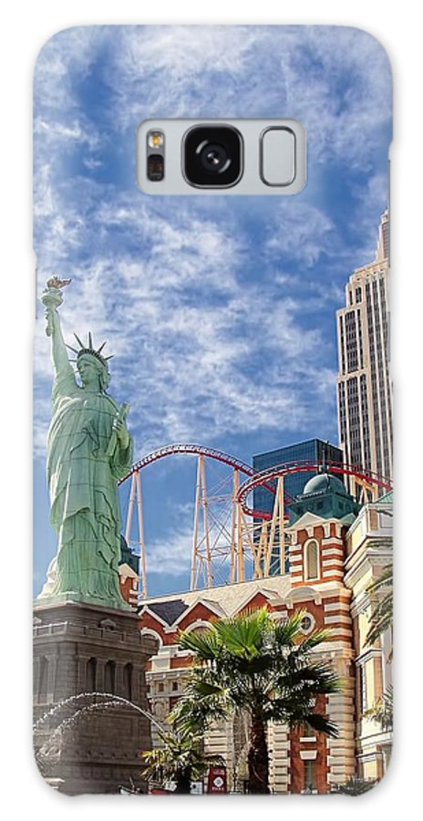 Vegas Galaxy S8 Case featuring the photograph Lady Liberty In Vegas by Jenny Hudson