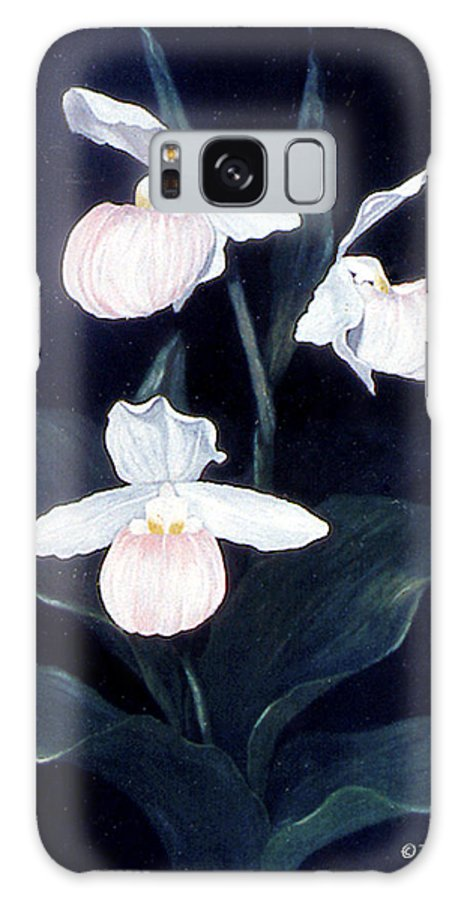 Karen Zuk Rosenblatt Art And Photography Galaxy S8 Case featuring the painting Lady Slipper by Karen Zuk Rosenblatt