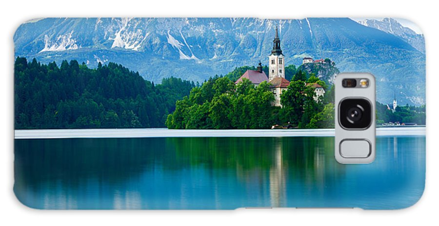 Bled Galaxy S8 Case featuring the photograph Lake Bled Island Church by Ian Middleton