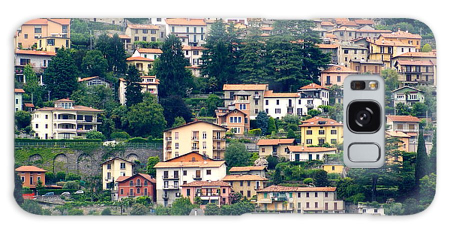Galaxy S8 Case featuring the photograph Lake Como Houses by Elizabeth-Anne King