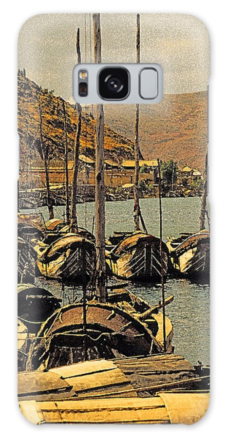 China Galaxy S8 Case featuring the photograph Lake Er Hai Boats by Dennis Cox