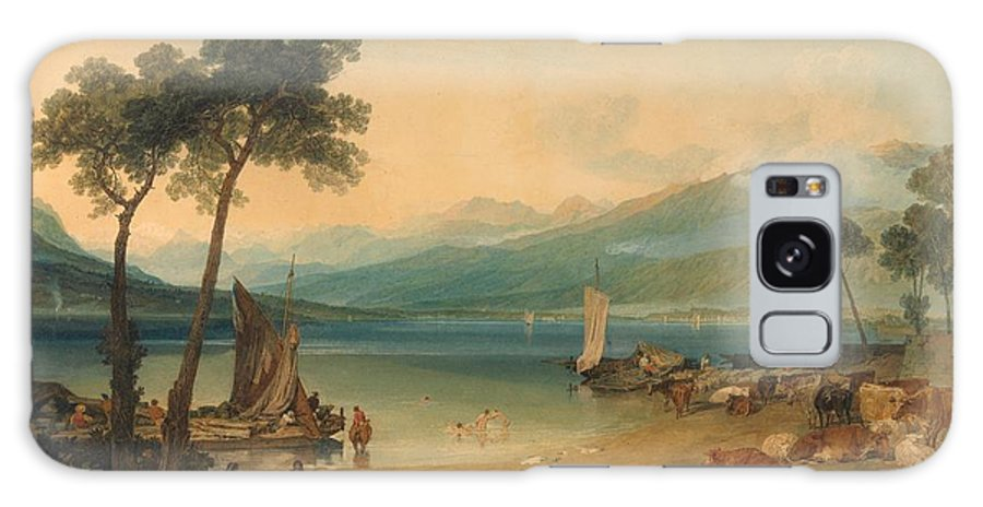 1802 Galaxy S8 Case featuring the painting Lake Geneva And Mount Blanc by JMW Turner