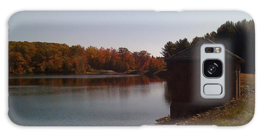 Lake Galaxy S8 Case featuring the photograph Lake Pump House by Nancie Johnson