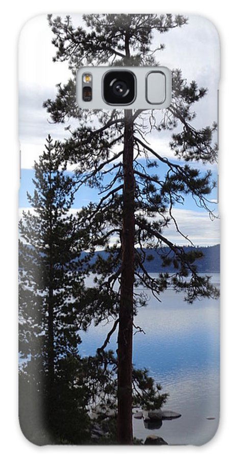 It Was A Cloudy Late Afternoon At Lake Tahoe. The Sky Made The Most Amazing Reflection Of Bright Blue On The Water Galaxy S8 Case featuring the photograph Lake Reflections At Tahoe by Kristina Lammers
