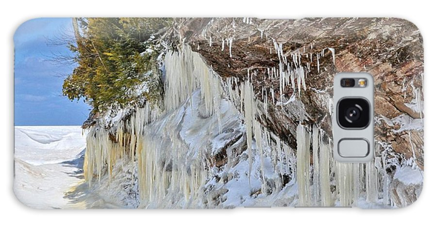 Lake Superior Galaxy S8 Case featuring the photograph Lake Superior Icicle Shoreline by Kathryn Lund Johnson