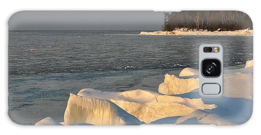 Lake Superior Galaxy S8 Case featuring the photograph Lake Superior Winter Sunset by Kathryn Lund Johnson