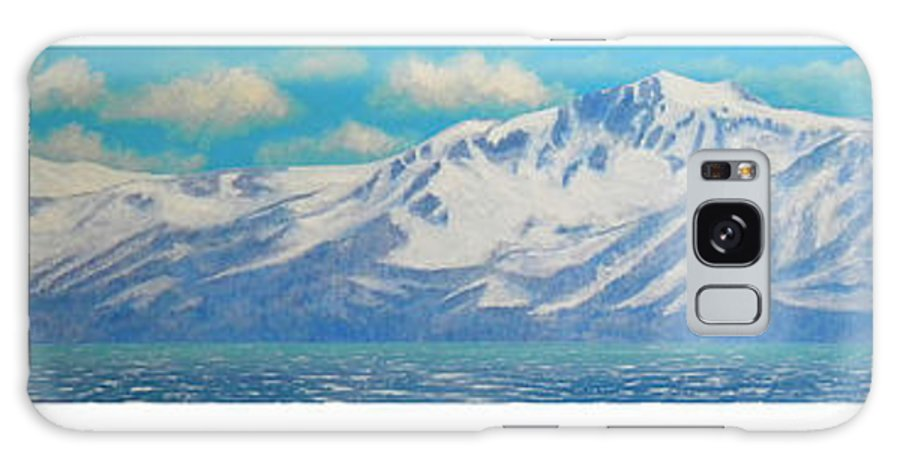 Lake Tahoe Galaxy S8 Case featuring the painting Lake Tahoe After The Storm Triptych by Frank Wilson