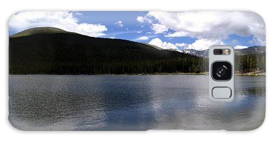 Panorama Galaxy S8 Case featuring the photograph Mountain Lakeside Lunch by Ian Mcadie