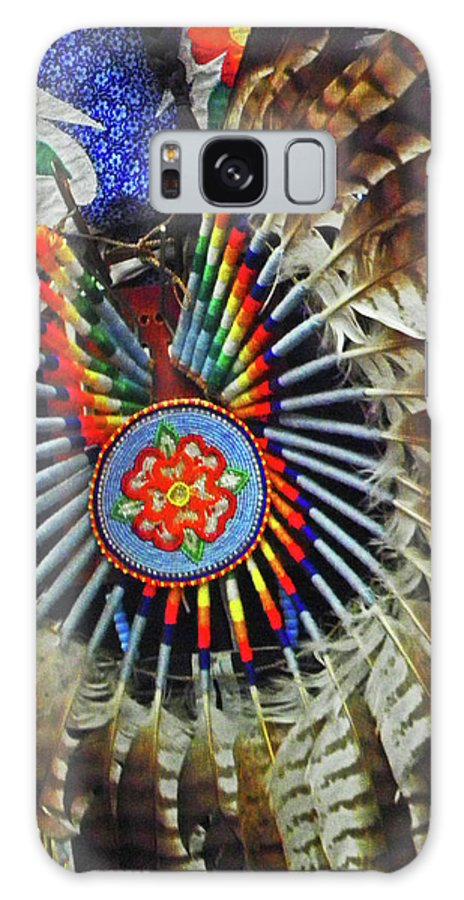 Feather Dancer Galaxy S8 Case featuring the photograph Lakota Feather Dance by Elizabeth Hoskinson
