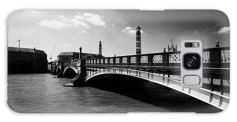 Bridge Galaxy S8 Case featuring the photograph lambeth bridge over the river thames central London England UK by Joe Fox